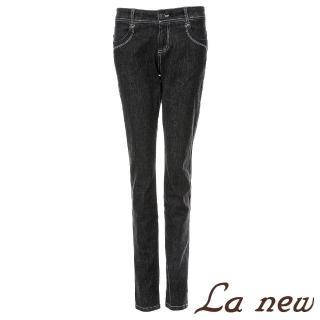 【La new】雙向彈性小直筒牛仔褲(女30791092)