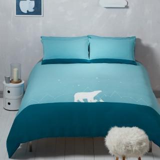 【Yvonne Collection】北極熊加大被套+枕套組(淺藍綠)