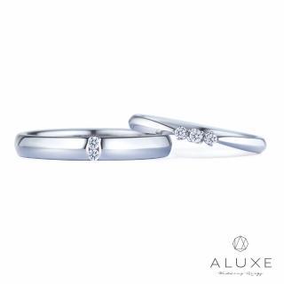 【A-LUXE 亞立詩】18K金鑽石情侶結婚對戒