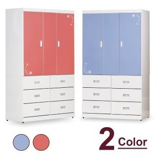 【時尚屋】喬蒂4x7尺衣櫥 CV7-17-1(兩色可選 免組裝 免運費 衣櫥)