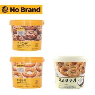 【NO BRAND】桶裝餅乾400g(奶油.巧克力豆.椰子)