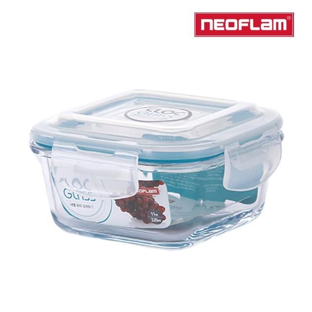 【NEOFLAM】CLOC系列耐熱玻璃保鮮盒(正方形320ml)