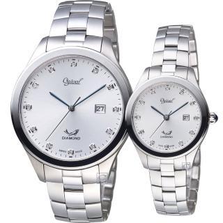 【Ogival 愛其華】摯愛永恆時尚對錶(3366MS  3366LS)