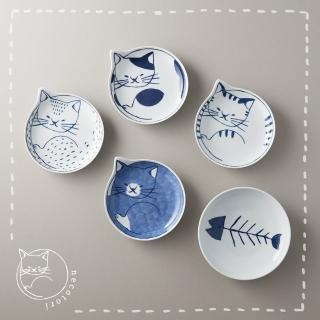 【石丸】波佐見燒 - neco 貓餐碟禮盒(5件組)