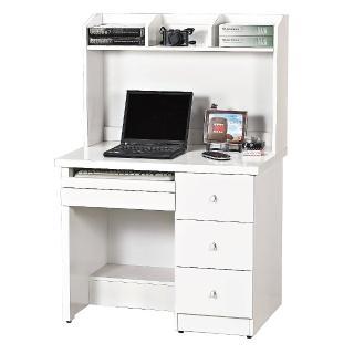 【AS】卡麗3尺白色電腦書桌-90x60x135cm