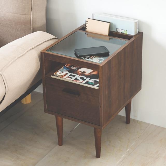 【樂活主義】多功能玻璃邊桌/茶几桌/邊櫃/雜誌收納櫃