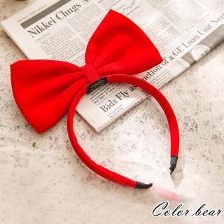 【卡樂熊】小魔女宅急便相似款蝶結造型髮箍(紅色)