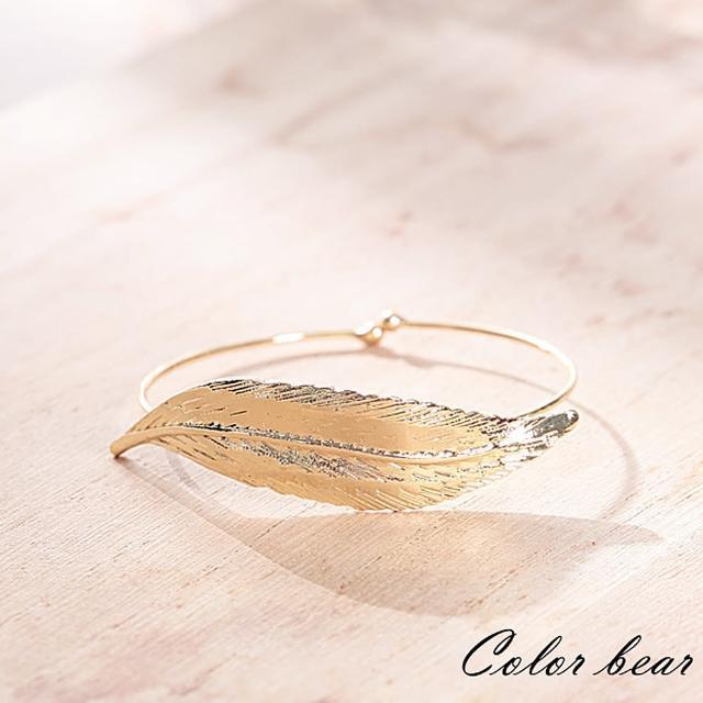 【卡樂熊】氣質精靈系月桂葉金屬手環(金色)
