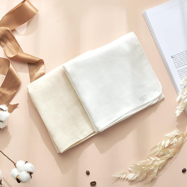 【MARURU】日本製無漂白無染色紗布洗澡巾 2入(新生兒baby寶寶無漂白無染色紗布洗澡巾/日本製)