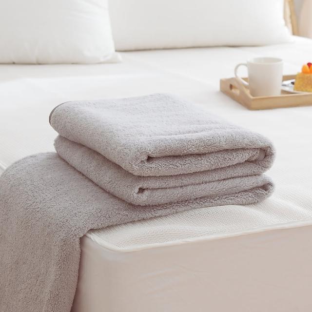 【HO KANG】吸濕透氣毛巾被(台灣製-灰)