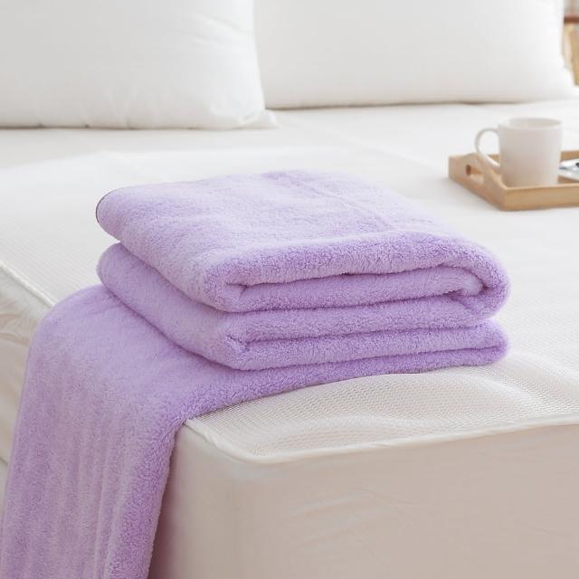 【HO KANG】吸濕透氣毛巾被(台灣製-紫)