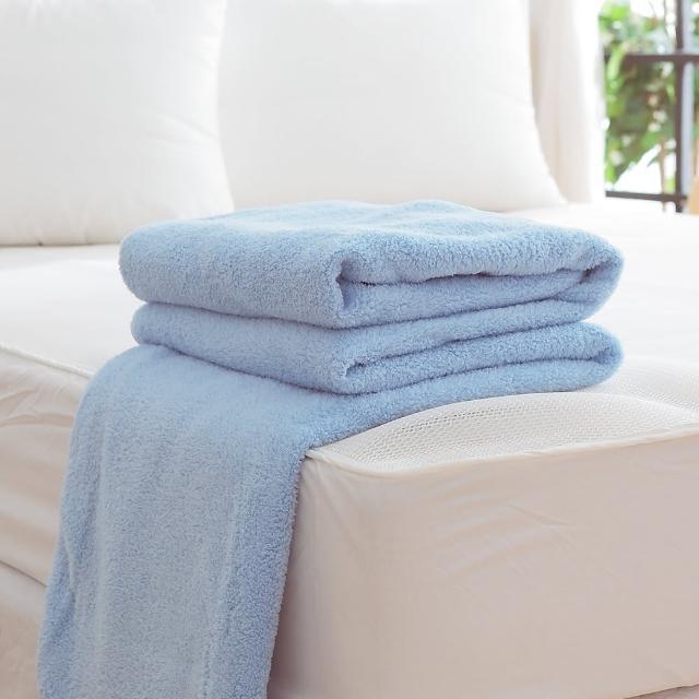 【HO KANG】吸濕透氣毛巾被(台灣製-藍)