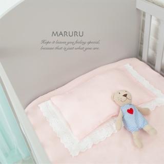 【MARURU】日本製嬰兒床單 嬰兒粉 70x120(日本製嬰兒寶寶baby床單/適用台式60x120/日式70x120嬰兒床墊)
