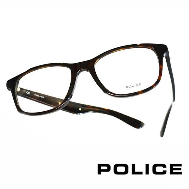 【POLICE】義大利警察都會款個性型男眼鏡(POV1792M0722 琥珀)