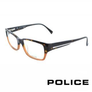 【POLICE】時尚雙色設計光學眼鏡(POV1735M06NP - 琥珀)