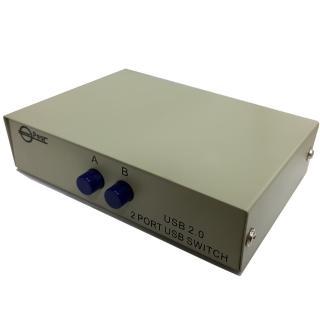 灰色 一對二 手動USB2.0 分享器/切換器(DS0002)