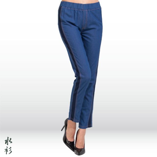 【水衫】側邊拼接顯瘦牛仔褲四件組(E09-31)