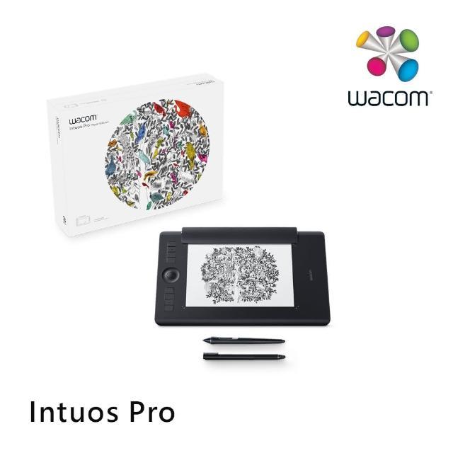 【Wacom】福利品-Intuos Pro Medium 雙功能創意觸控繪圖板 經典黑(PTH-660/K1)