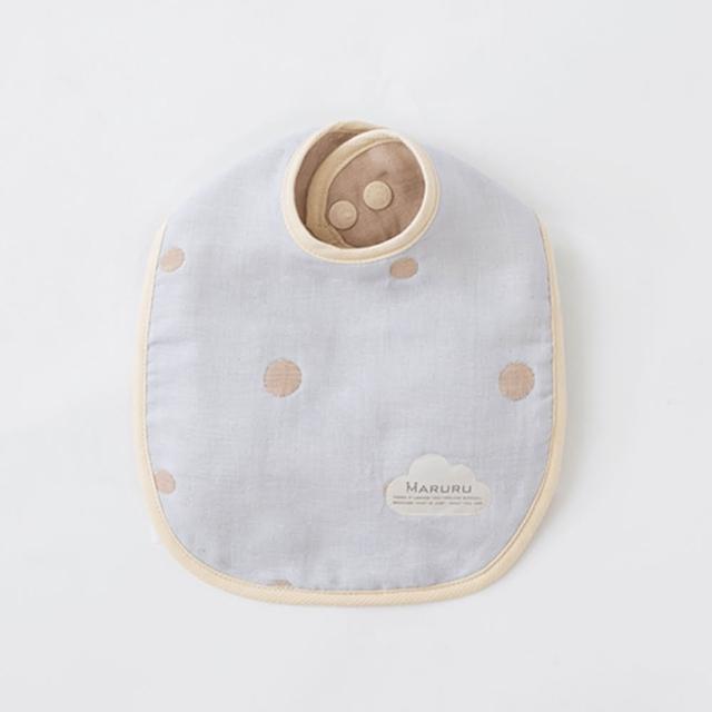【MARURU】日本五層紗口水圍兜 嬰兒藍(日本五層紗圍兜/多層紗口水巾)