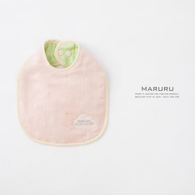 【MARURU】日本六層紗口水圍兜 夏綠蒂花園(日本六層紗圍兜/多層紗口水巾)