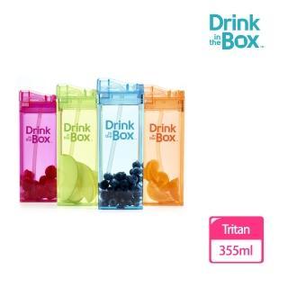 【Drink in the box】Tritan兒童運動大吸管杯355ml*4入超值組(多款繽紛任選)