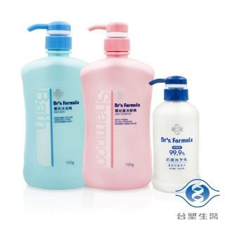 【台塑生醫】嬰幼童雙重洗淨組(嬰兒沐浴X1 嬰幼童洗髮X1 抗菌洗手乳X1)