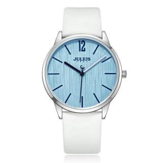 【JULIUS】秋日暖陽直紋錶面皮錶帶腕錶(四色/36mm)