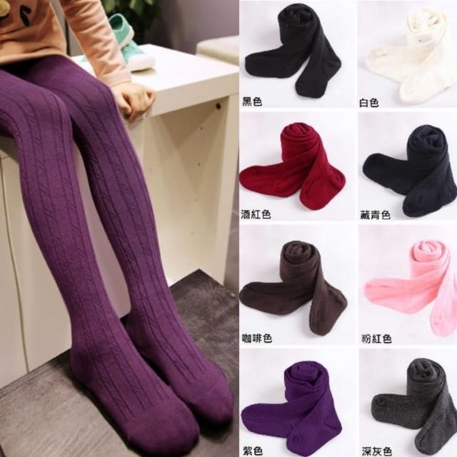 【小衣衫童裝】糖果色豎條紋針織彈力褲襪(1051026)