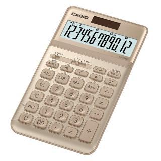 【CASIO 卡西歐】12位元璀璨晶耀桌上型計算機-尊爵金(JW-200SC-GD)