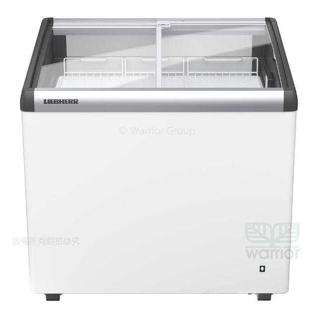 【LIEBHERR 利勃】德國利勃LIEBHERR 2尺8 弧型玻璃推拉冷凍櫃 EFI-2053(弧型玻璃推拉冷凍櫃附LED燈)