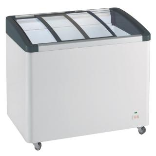 【LIEBHERR 利勃】德國利勃LIEBHERR 3尺4 弧型玻璃推拉冷凍櫃 EFI-2753(弧型玻璃推拉冷凍櫃附LED燈)