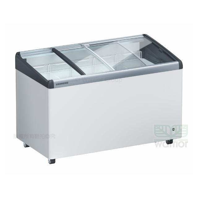 【LIEBHERR 利勃】德國利勃LIEBHERR 4尺2 弧型玻璃推拉冷凍櫃 EFI-3453(弧型玻璃推拉冷凍櫃附LED燈)