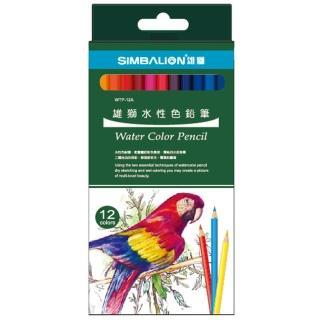 ~雄獅文具~WTP~12A 12色水性彩色鉛筆 紙盒