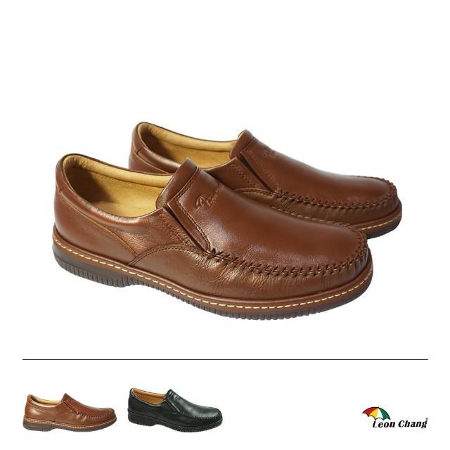 【Leon Chang 雨傘】質感真皮紳士鞋