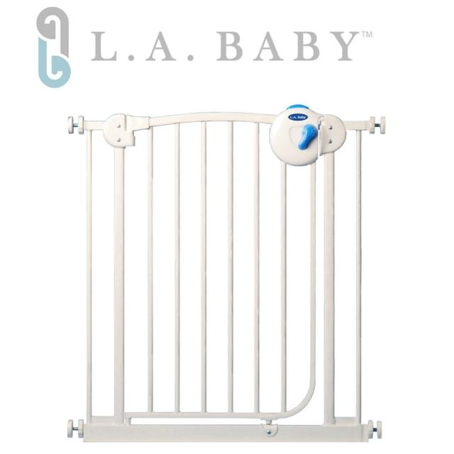 【L.A. Baby】雙向自動上鎖安全鐵門欄(贈一片延伸件)