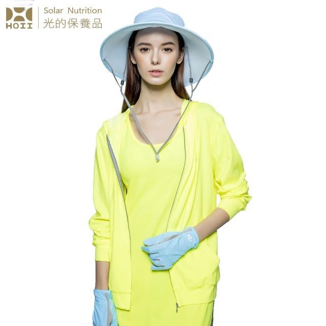 【HOII后益】連帽T恤- ★黃光(UPF50+抗UV防曬涼感先進光學機能布)