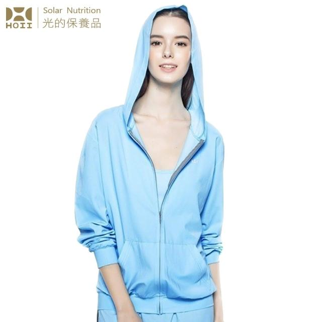 【HOII后益】連帽T恤- ★藍光(UPF50+抗UV防曬涼感先進光學機能布)