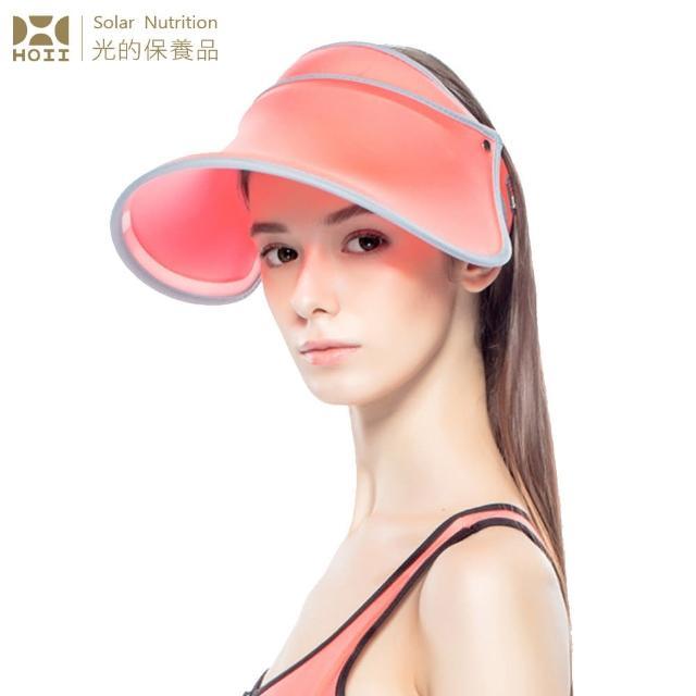 【HOII后益】伸缩艳阳帽 ★红光(UPF50+抗UV防晒凉感先进光学机能布)