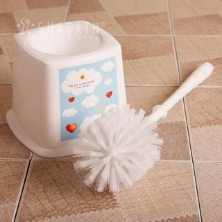 【SHABATH】雲朵附盒馬桶刷(浴室廁所清潔 輕鬆去汙 密集刷毛 瀝水通風)