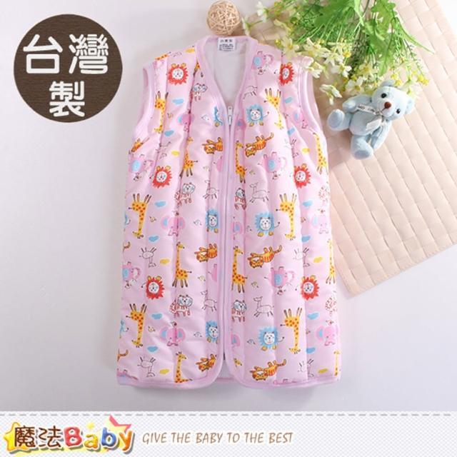 【魔法Baby】嬰幼兒睡袍 台灣製厚鋪棉保暖背心睡袍(k60426)