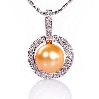【小樂珠寶】賀momo週年慶只特價2顆-全圓全美 絕美南洋珠項鍊(出貨以實際顏色為主)