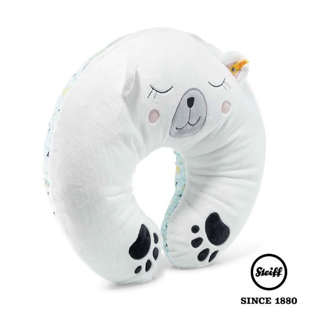 【STEIFF】Lggy Polar Bear Lggy Polar Bear Cuddly Cushion 多功能U型枕(寢具枕類)