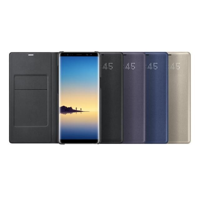 【SAMSUNG 三星】Galaxy Note8 LED 原廠皮革翻頁式皮套(盒裝)
