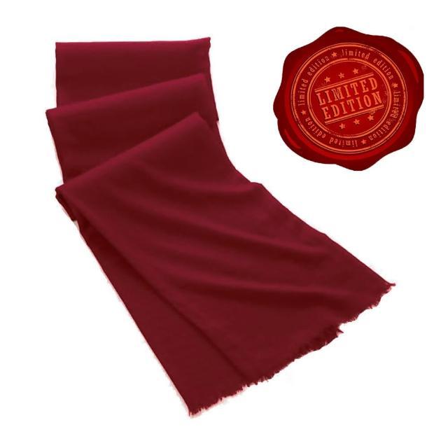 【5TH AVE】第五大道400支紗Shahpashm披肩(酒紅色)