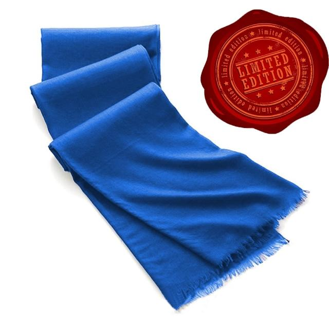 【5TH AVE】第五大道400支紗Shahpashm披肩(西班牙藍)