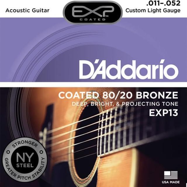 【DAddario】DDXF-EXP13 黃銅包覆民謠木吉他套弦(總代理公司貨 品質有保障)