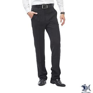 【NST JEANS】哥德式極簡主義 純黑男斜口袋西裝褲-中腰(390-5583)