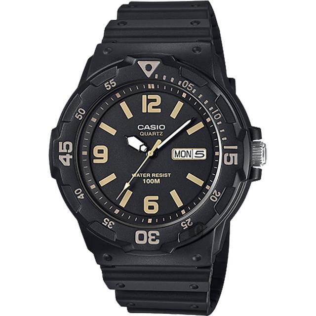 【CASIO 卡西歐】DIVER LOOK 潛水運動風手錶-黑(MRW-200H-1B3VDF)