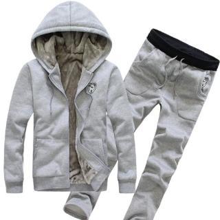 【NBL】J0282DB深藍色/R酒紅色/BK黑色/G灰色連帽衛衣套裝(韓版冬季加絨加厚連帽衛衣套裝)