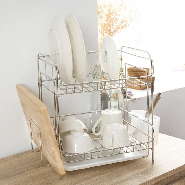 【樂活主義】不鏽鋼雙層萬用碗盤架/瀝水架/收納架